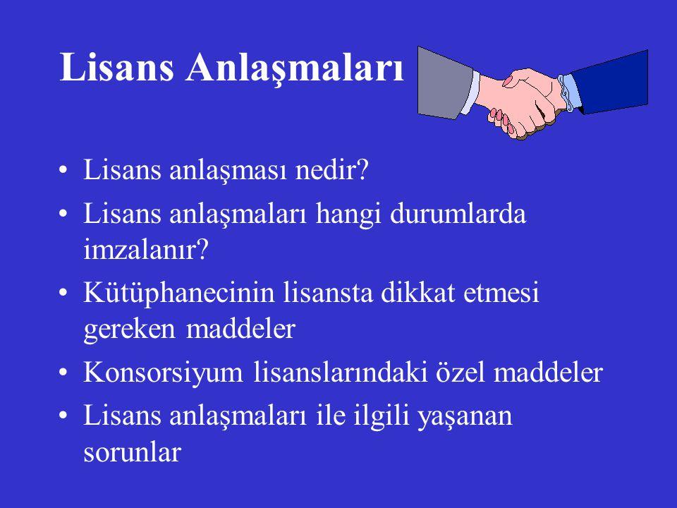 Lisans Anlaşmaları Lisans anlaşması nedir
