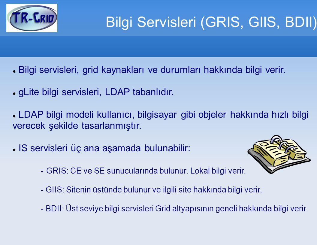 Bilgi Servisleri (GRIS, GIIS, BDII)