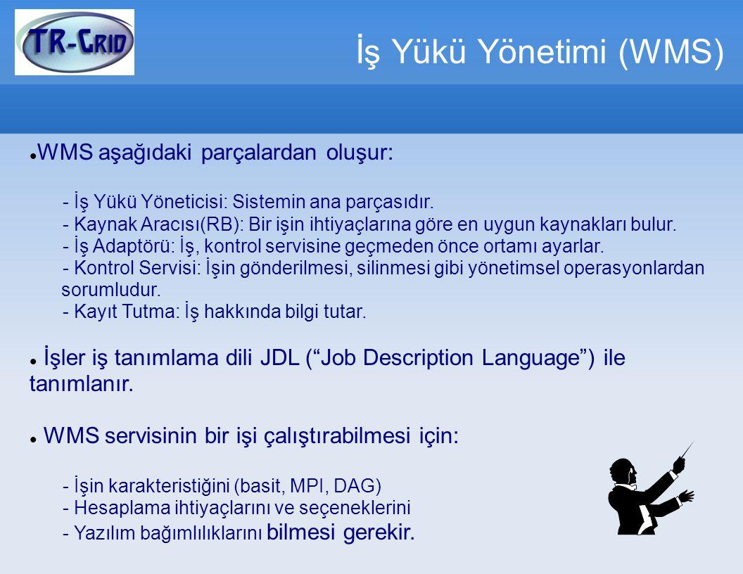İş Yükü Yönetimi (WMS) WMS aşağıdaki parçalardan oluşur: