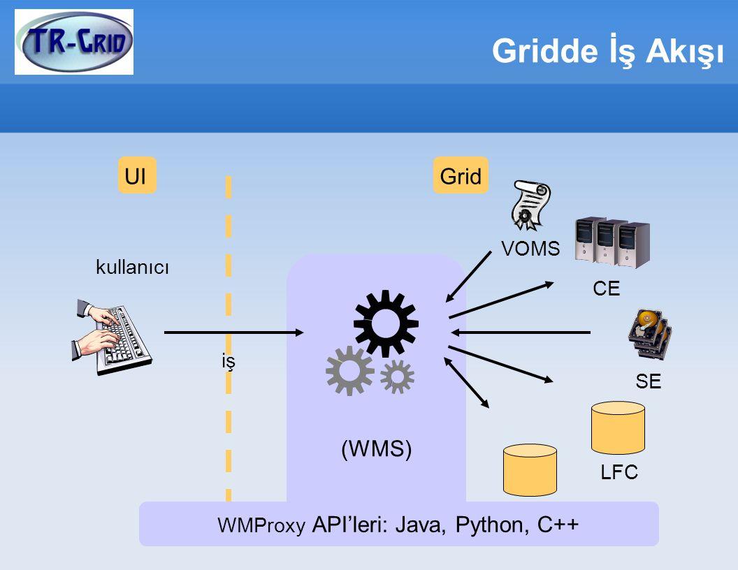 WMProxy API'leri: Java, Python, C++