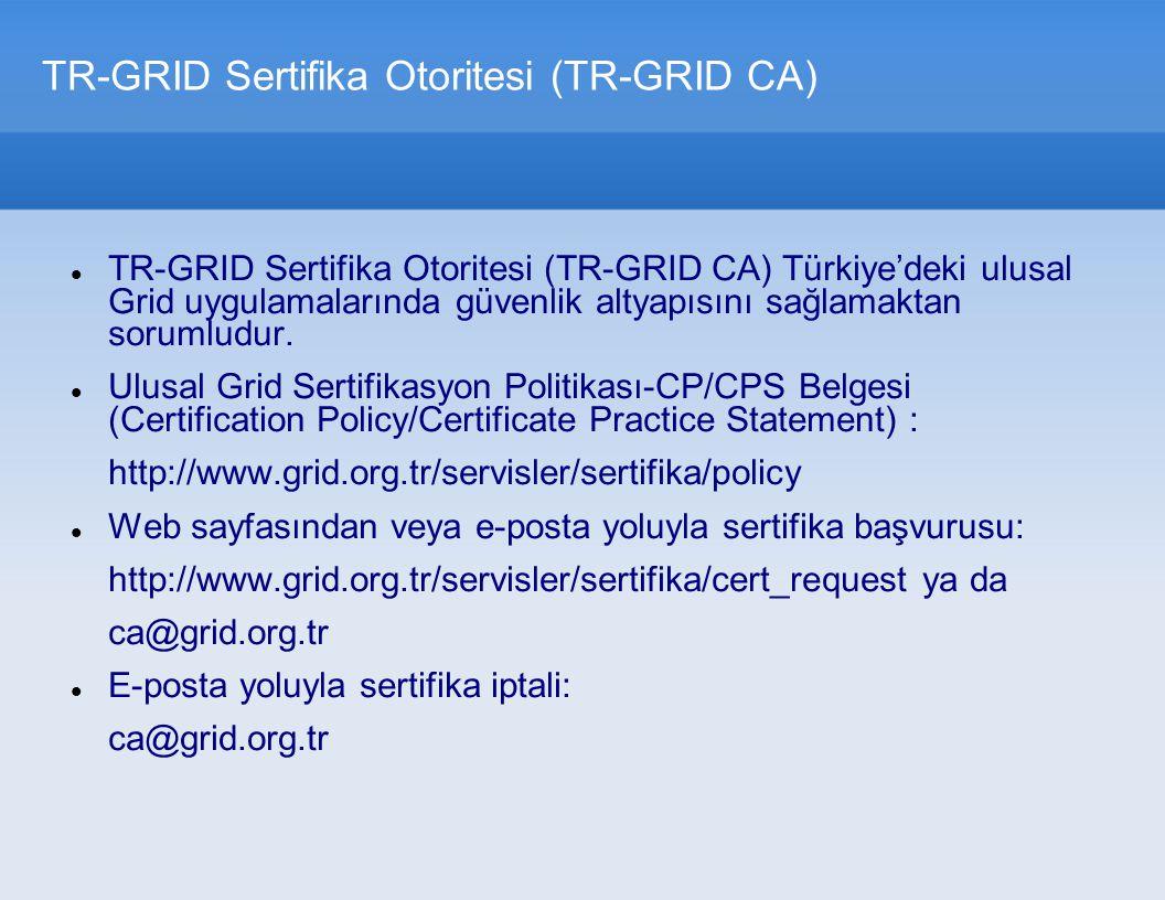 TR-GRID Sertifika Otoritesi (TR-GRID CA)