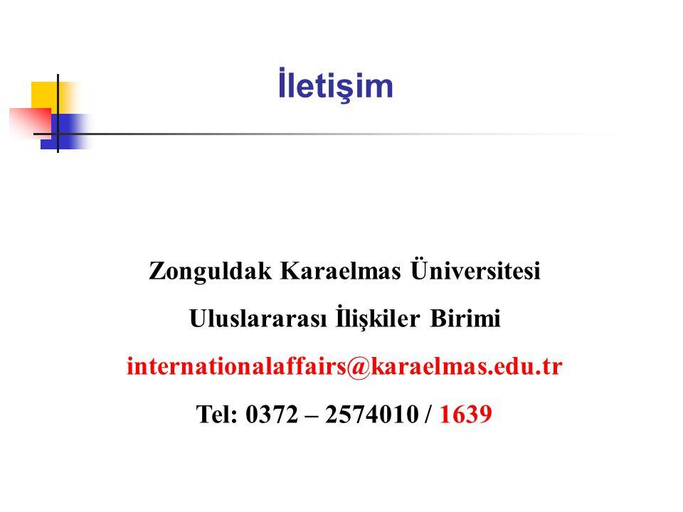 Zonguldak Karaelmas Üniversitesi Uluslararası İlişkiler Birimi