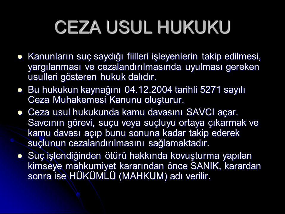 CEZA USUL HUKUKU