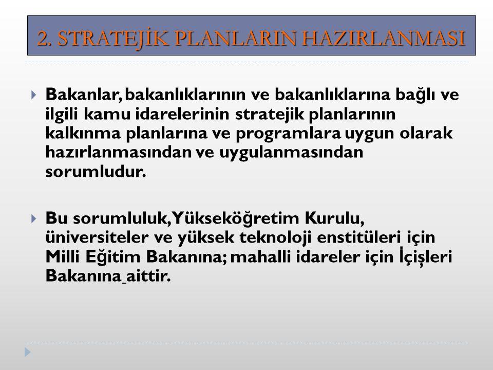 2. STRATEJİK PLANLARIN HAZIRLANMASI
