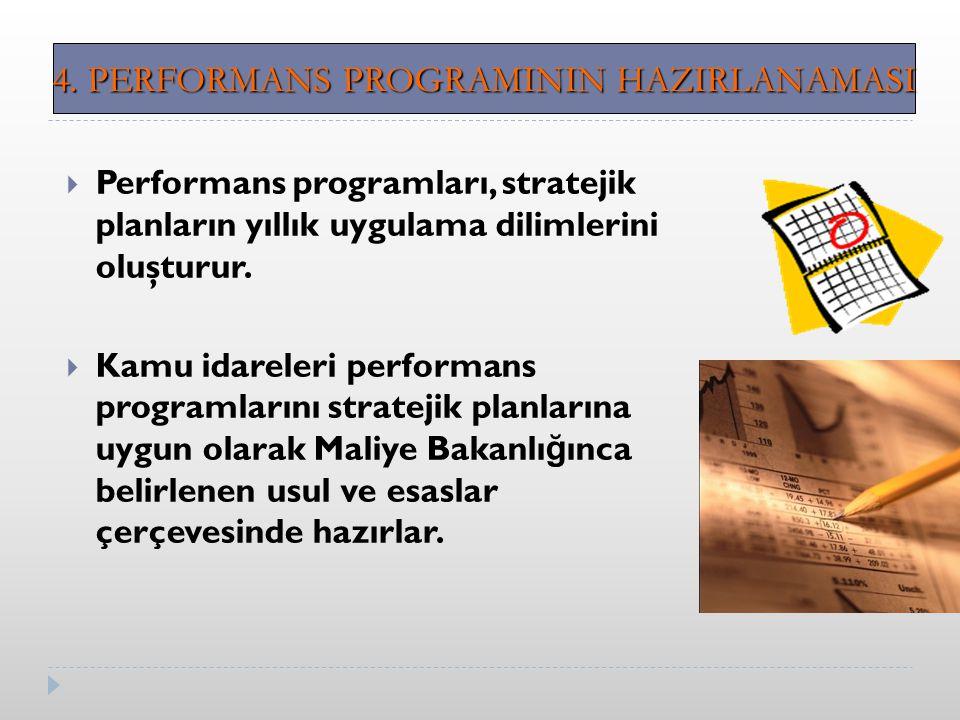 4. PERFORMANS PROGRAMININ HAZIRLANAMASI