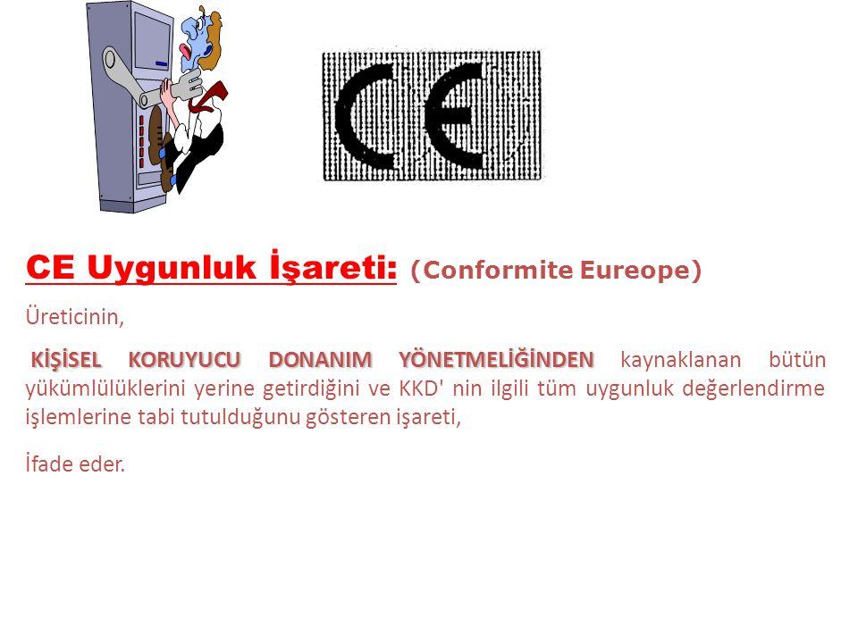 CE Uygunluk İşareti: (Conformite Eureope)