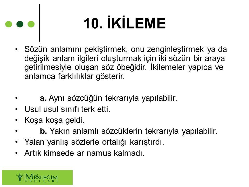 10. İKİLEME