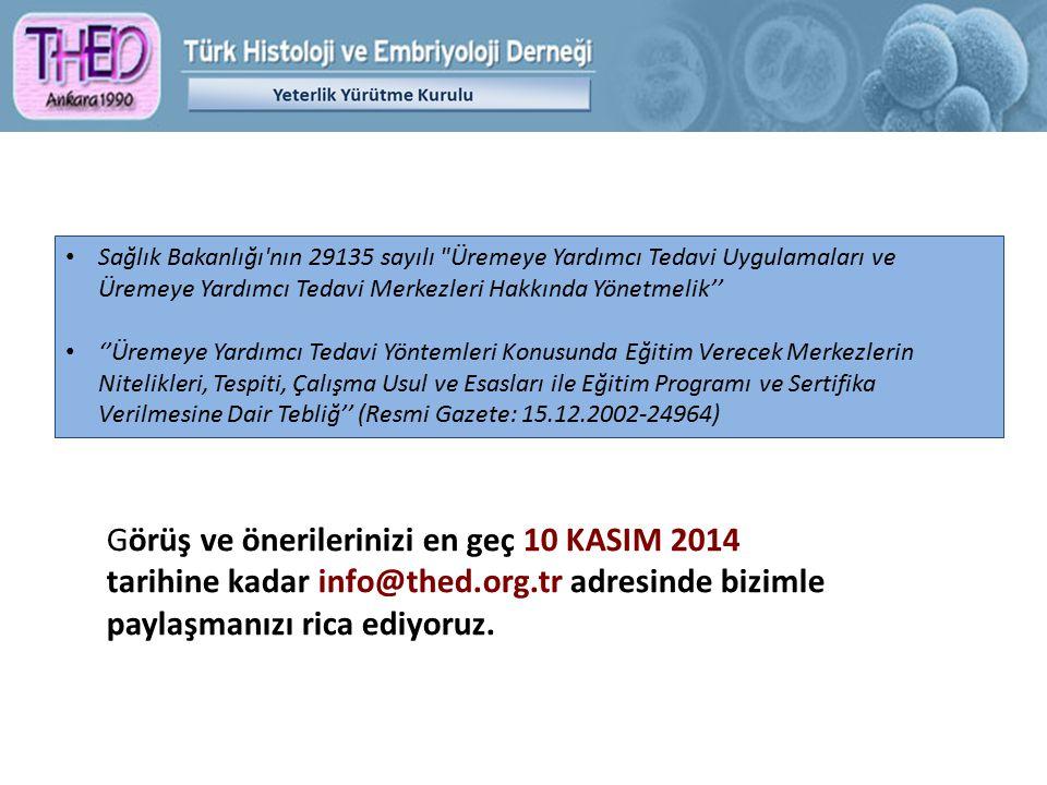 Görüş ve önerilerinizi en geç 10 KASIM 2014