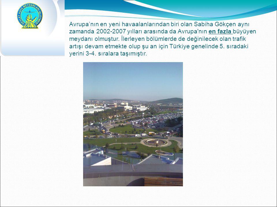 Avrupa'nın en yeni havaalanlarından biri olan Sabiha Gökçen aynı zamanda 2002-2007 yılları arasında da Avrupa nın en fazla büyüyen meydanı olmuştur. İlerleyen bölümlerde de değinilecek olan trafik artışı devam etmekte olup şu an için Türkiye genelinde 5. sıradaki yerini 3-4. sıralara taşımıştır.