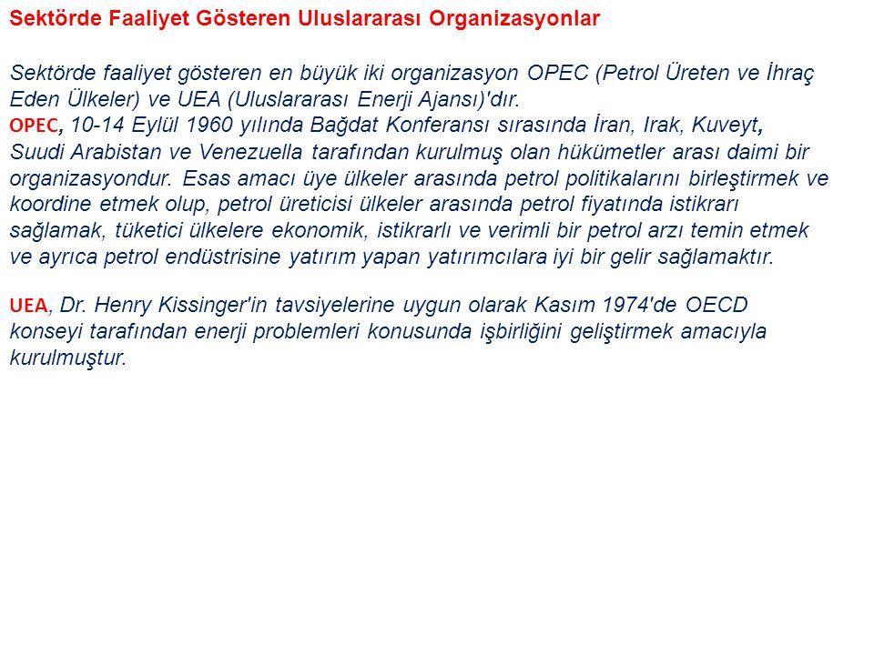 Sektörde Faaliyet Gösteren Uluslararası Organizasyonlar