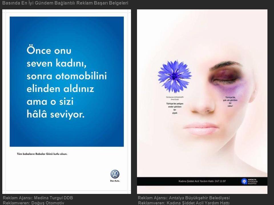 Basında En İyi Gündem Bağlantılı Reklam Başarı Belgeleri