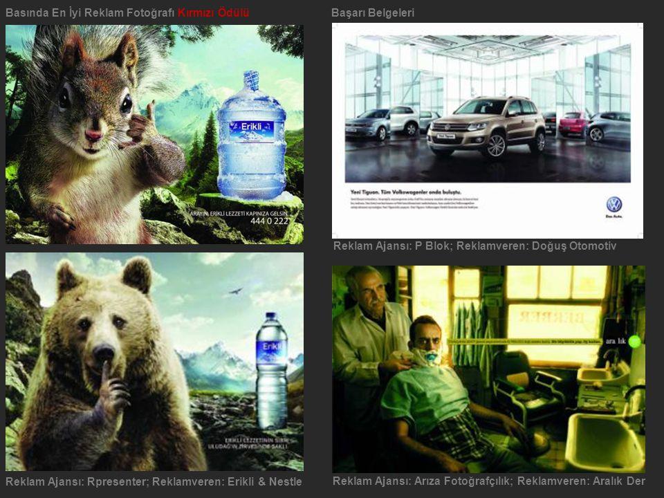 Basında En İyi Reklam Fotoğrafı Kırmızı Ödülü Başarı Belgeleri
