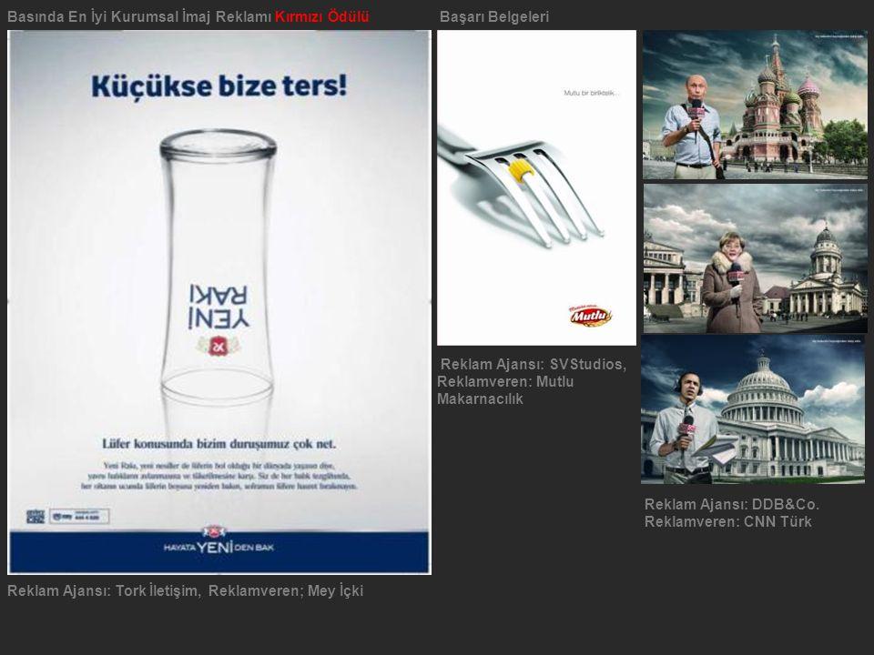 Basında En İyi Kurumsal İmaj Reklamı Kırmızı Ödülü Başarı Belgeleri
