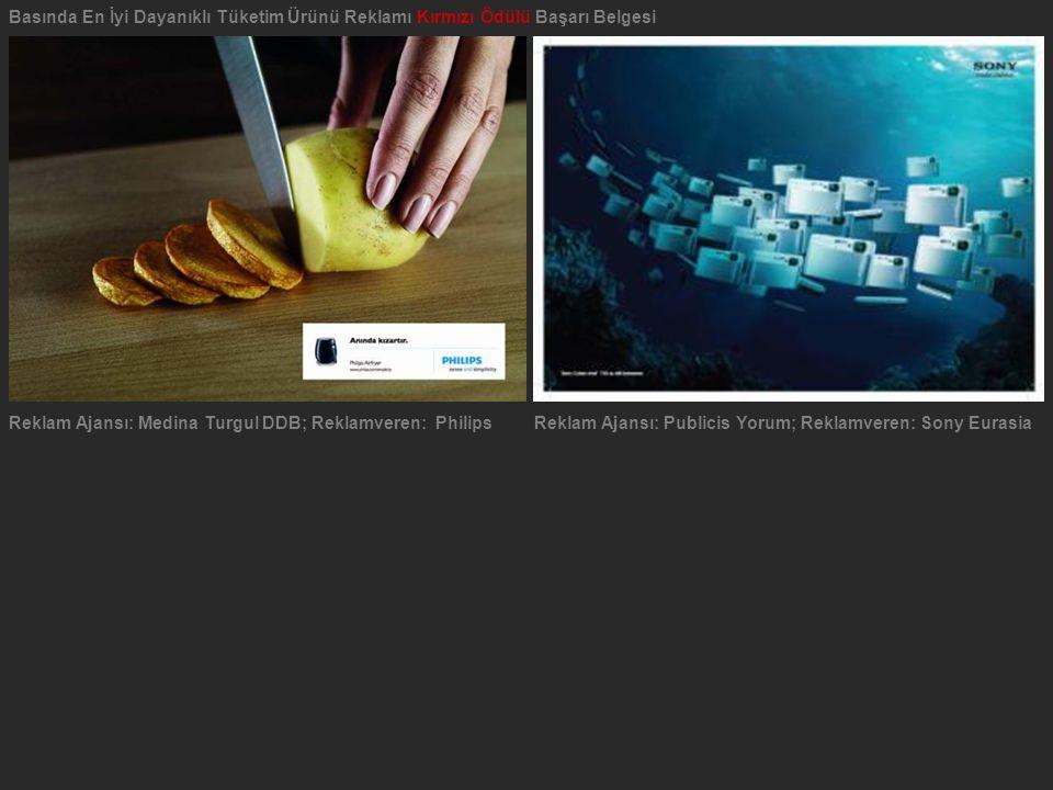 Basında En İyi Dayanıklı Tüketim Ürünü Reklamı Kırmızı Ödülü