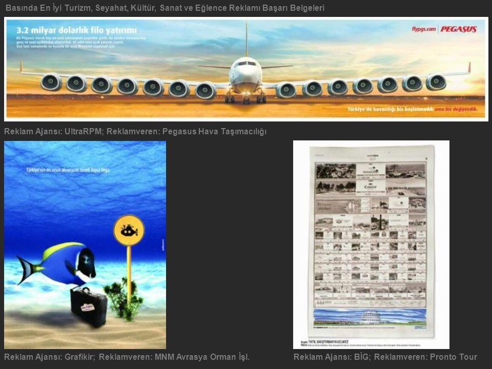 Basında En İyi Turizm, Seyahat, Kültür, Sanat ve Eğlence Reklamı Başarı Belgeleri