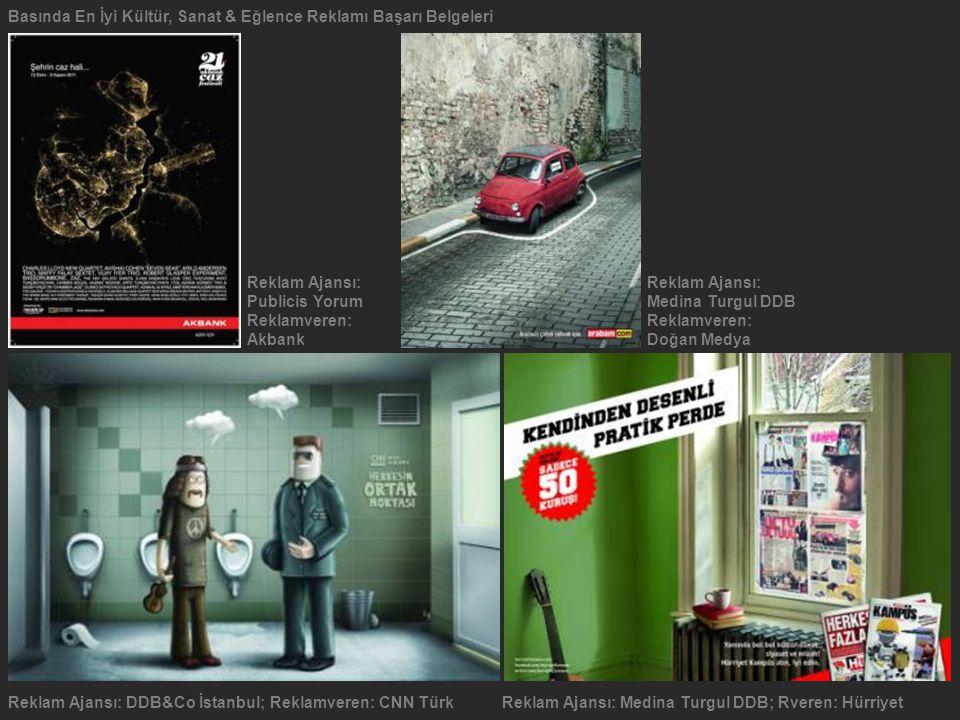 Basında En İyi Kültür, Sanat & Eğlence Reklamı Başarı Belgeleri
