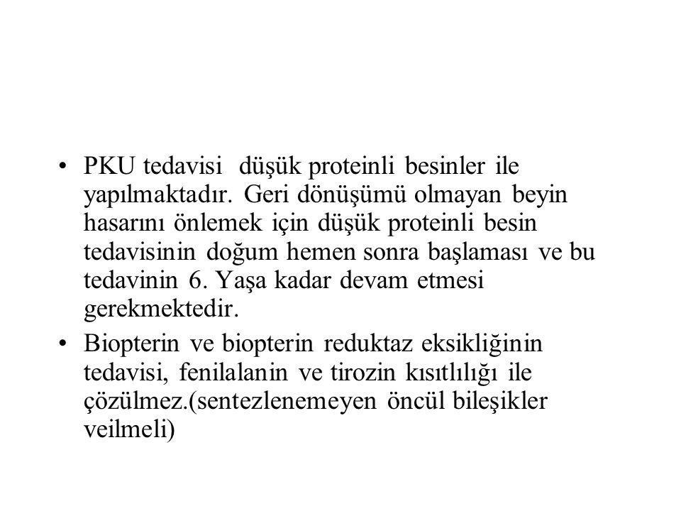 PKU tedavisi düşük proteinli besinler ile yapılmaktadır