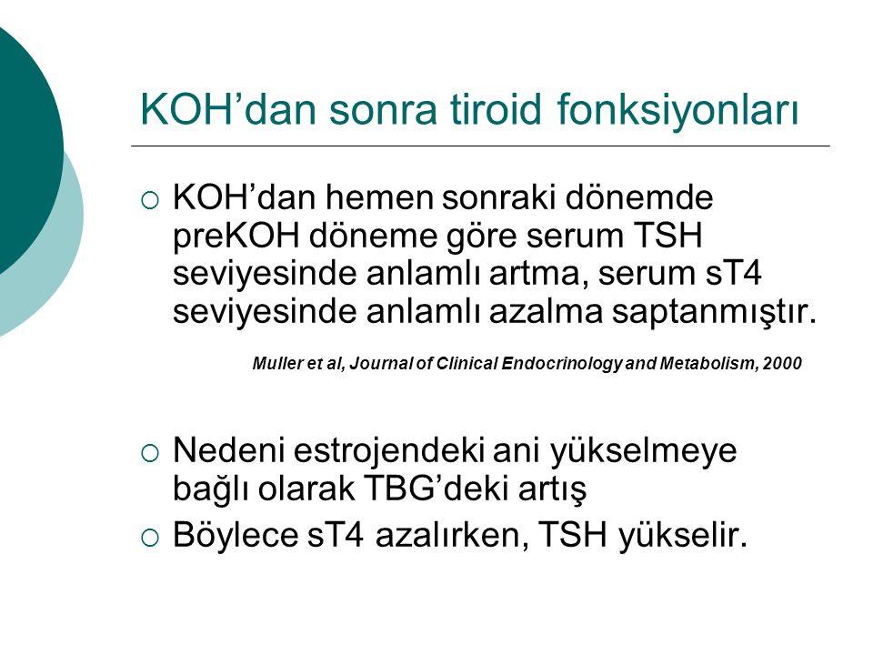 KOH'dan sonra tiroid fonksiyonları