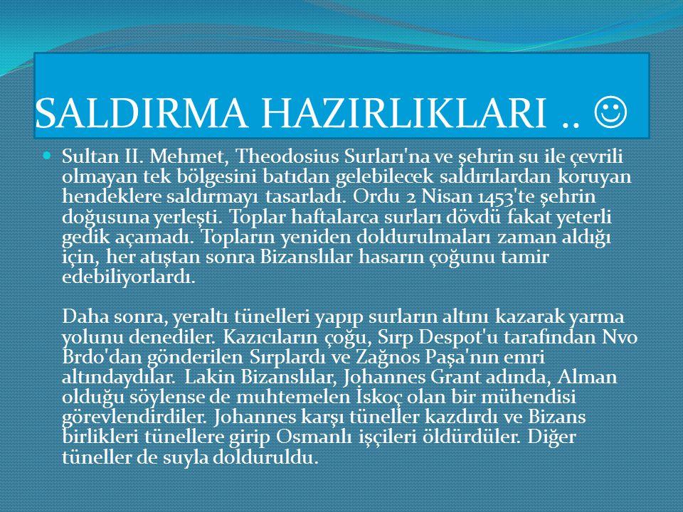 SALDIRMA HAZIRLIKLARI .. 