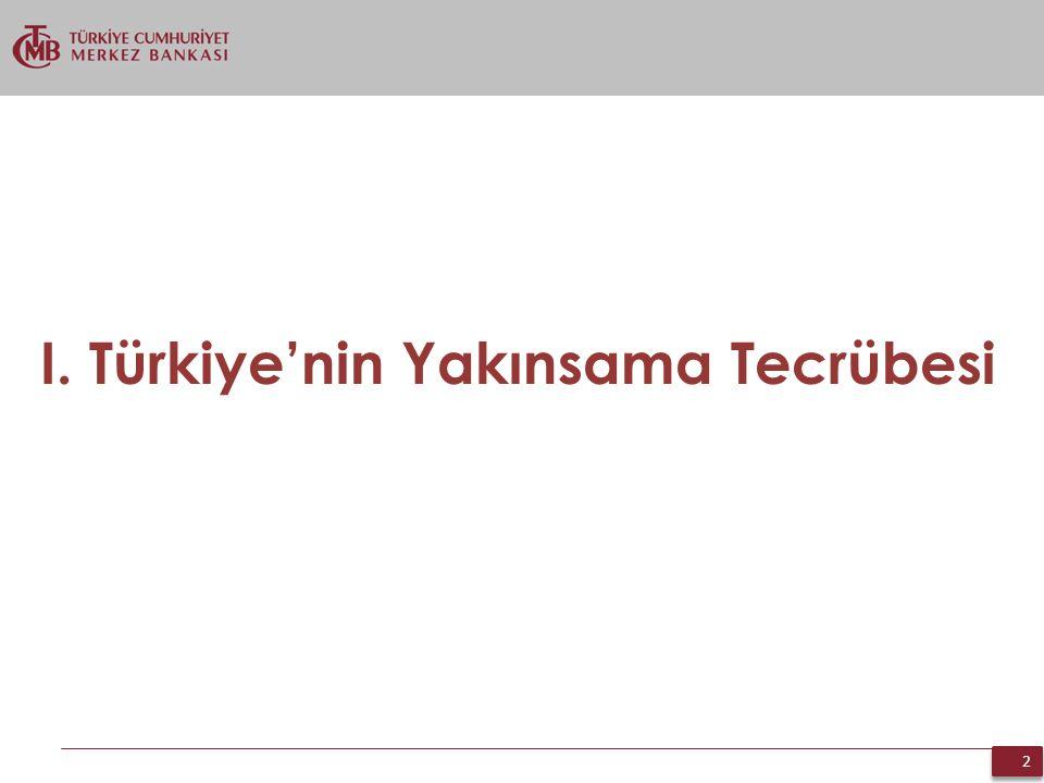 I. Türkiye'nin Yakınsama Tecrübesi