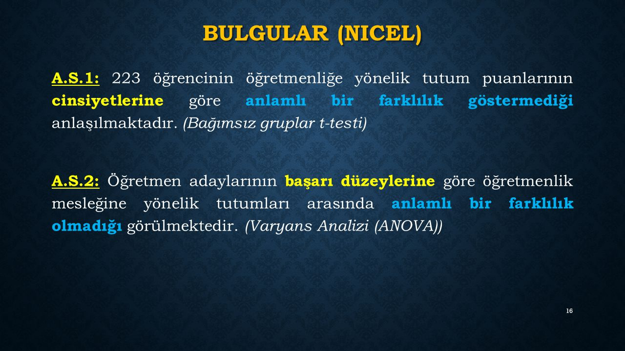 Bulgular (nicel)
