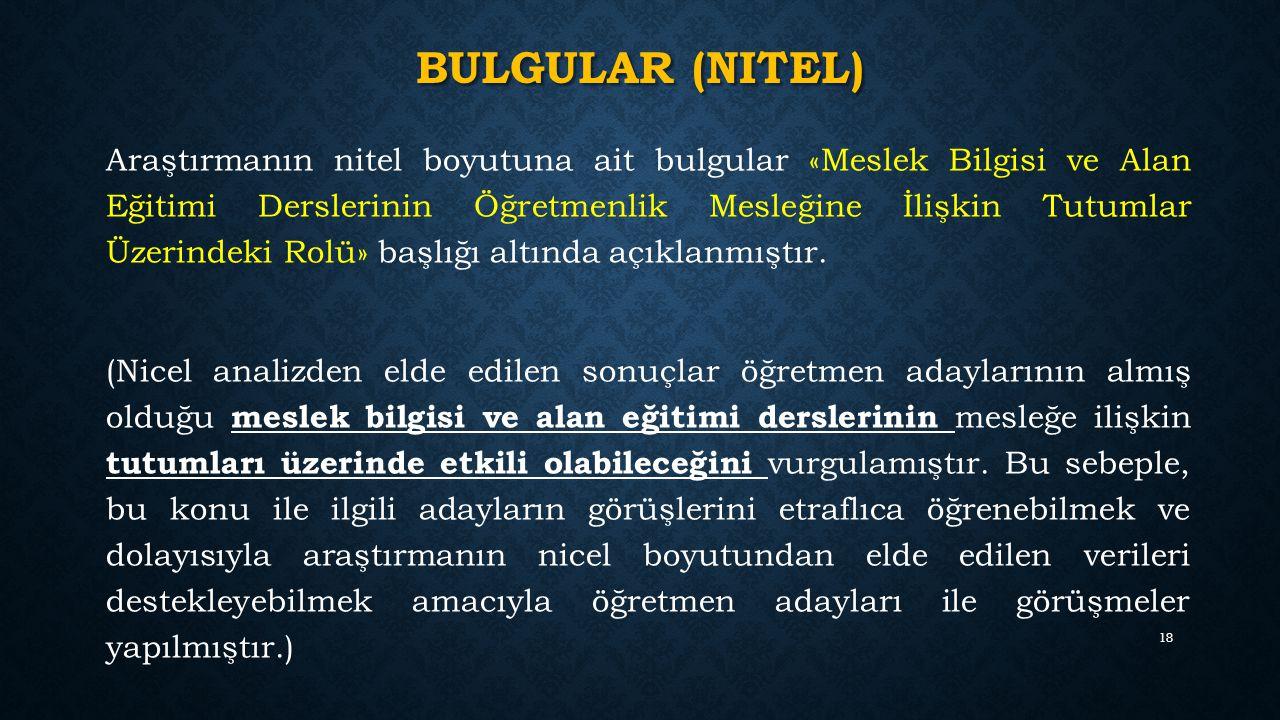 Bulgular (nitel)