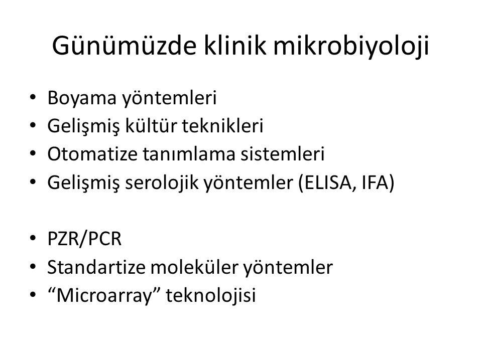 Günümüzde klinik mikrobiyoloji