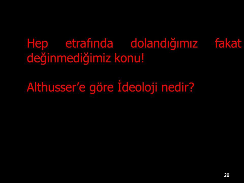 Althusser'e göre İdeoloji nedir