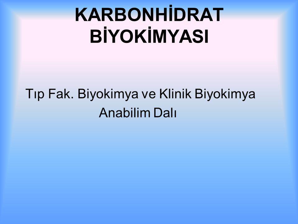 KARBONHİDRAT BİYOKİMYASI