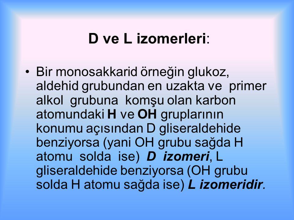 D ve L izomerleri: