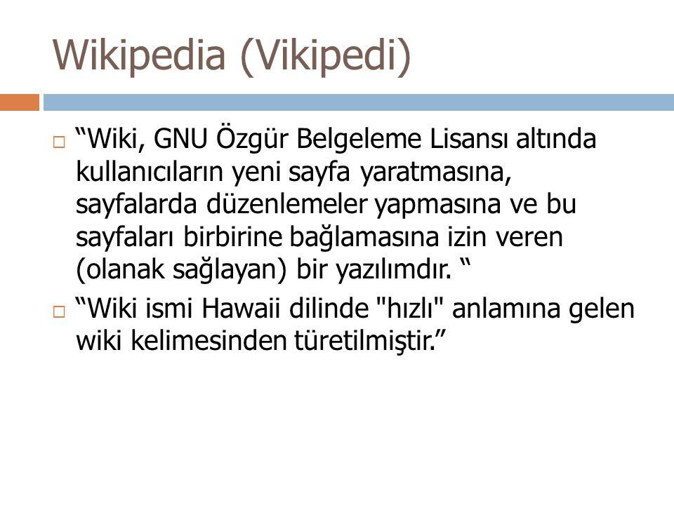 Wikipedia (Vikipedi)