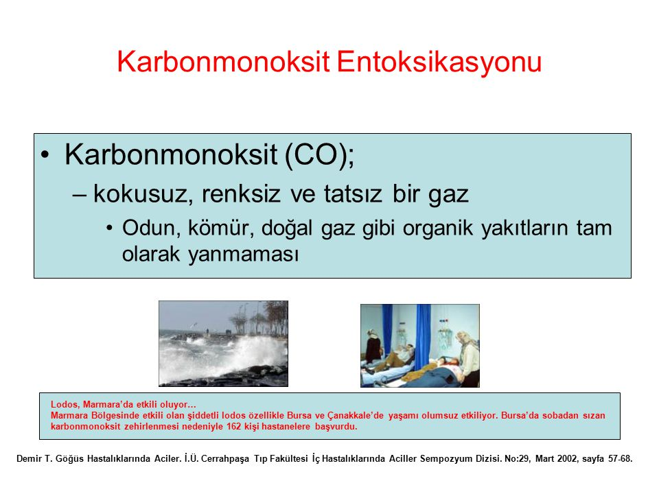 Karbonmonoksit Entoksikasyonu