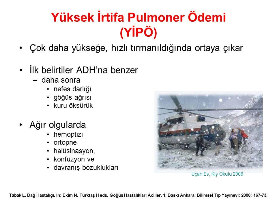 Yüksek İrtifa Pulmoner Ödemi (YİPÖ)
