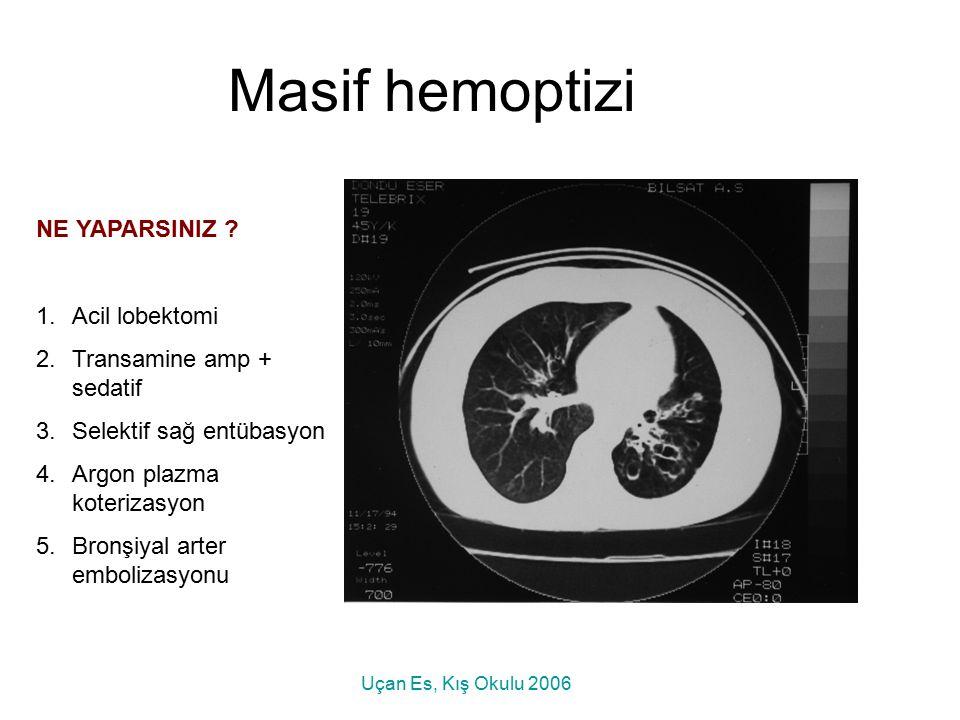 Masif hemoptizi NE YAPARSINIZ Acil lobektomi