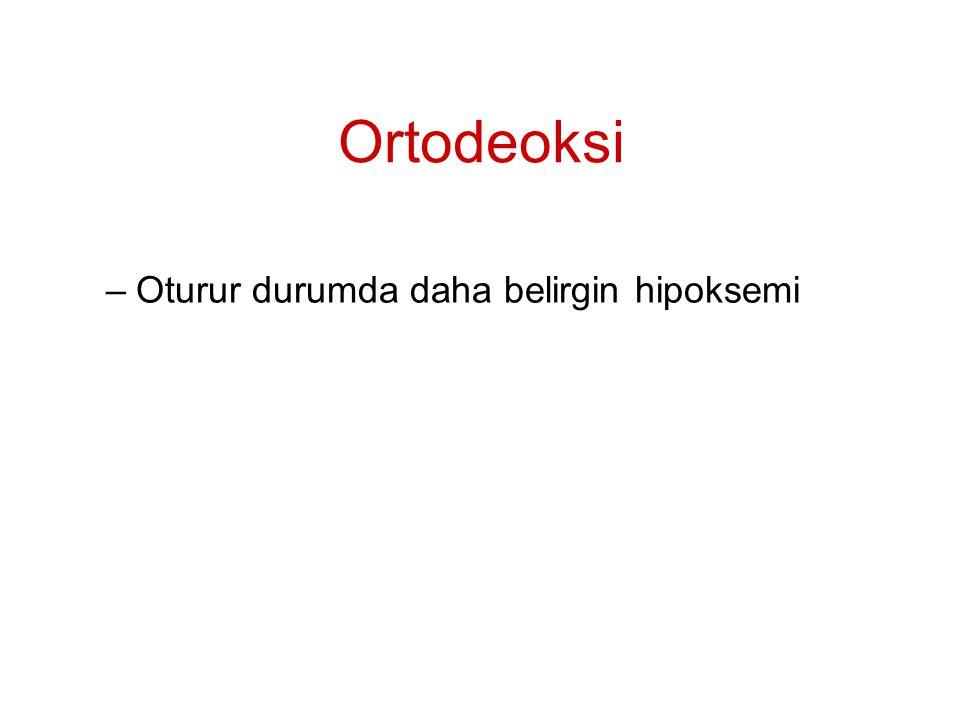 Ortodeoksi Oturur durumda daha belirgin hipoksemi