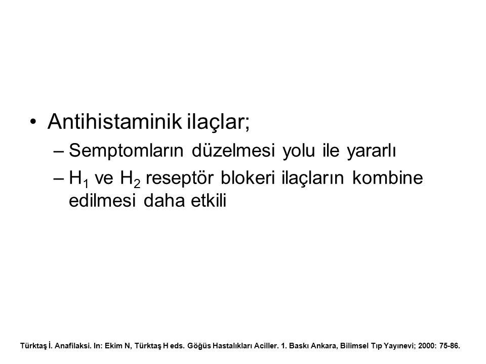Antihistaminik ilaçlar;