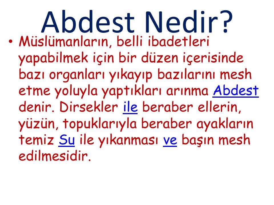 Abdest Nedir