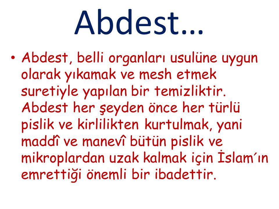Abdest…