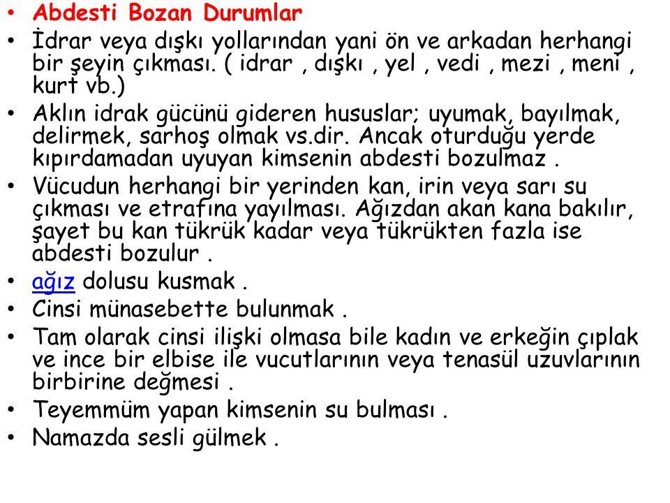 Abdesti Bozan Durumlar