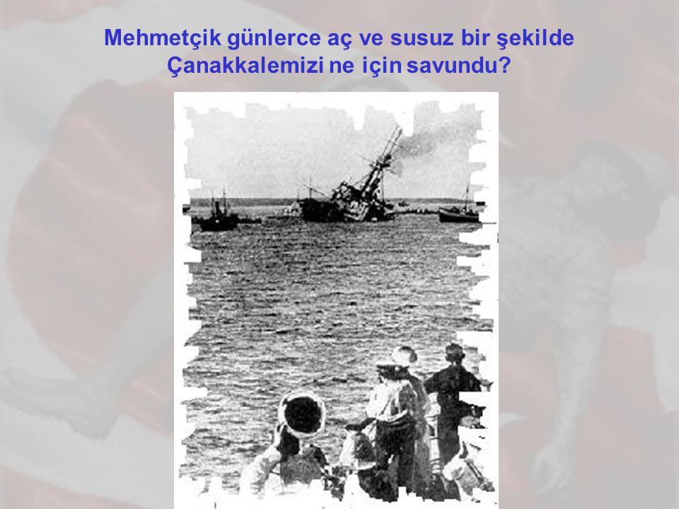 Mehmetçik günlerce aç ve susuz bir şekilde Çanakkalemizi ne için savundu