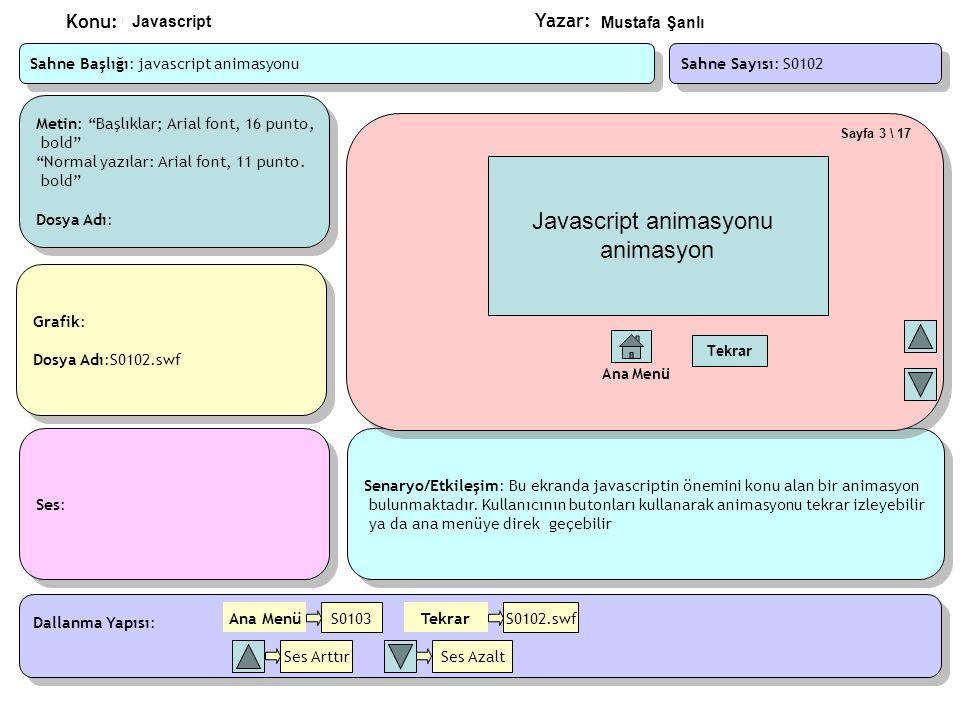 Javascript animasyonu