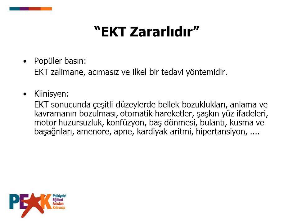 EKT Zararlıdır Popüler basın: