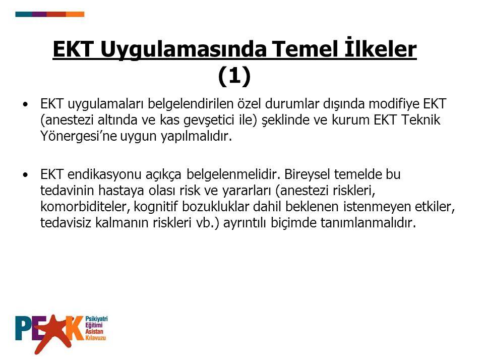 EKT Uygulamasında Temel İlkeler (1)