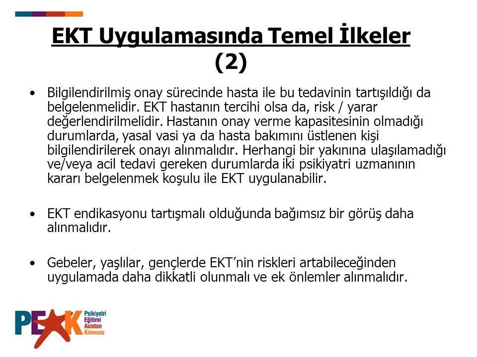 EKT Uygulamasında Temel İlkeler (2)