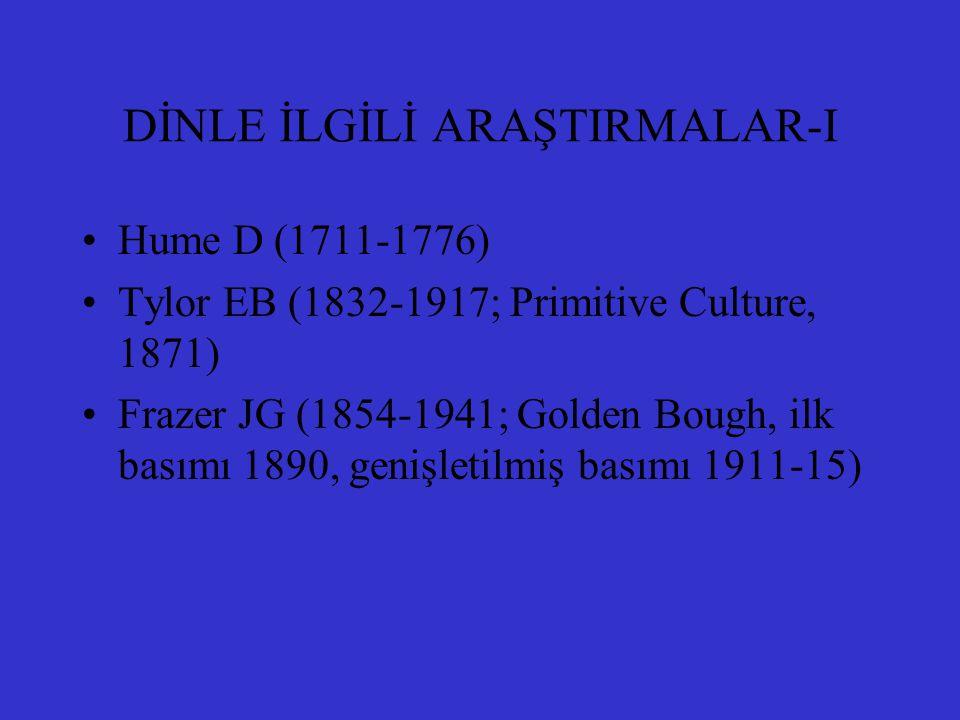 DİNLE İLGİLİ ARAŞTIRMALAR-I