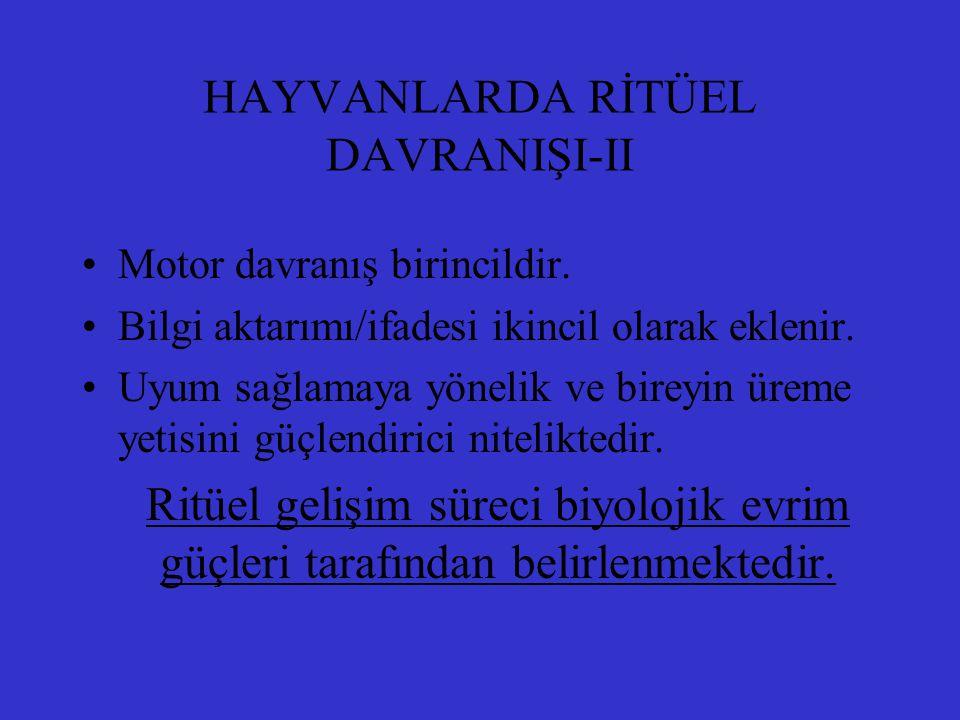 HAYVANLARDA RİTÜEL DAVRANIŞI-II