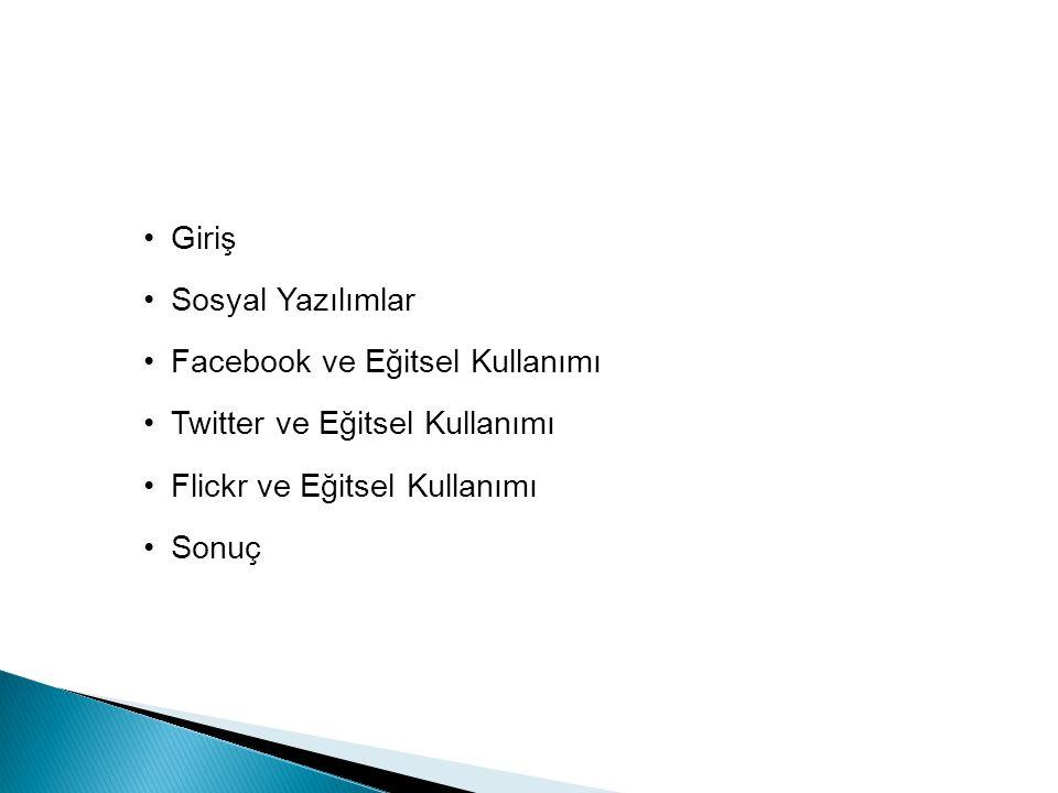 İçerik Giriş Sosyal Yazılımlar Facebook ve Eğitsel Kullanımı