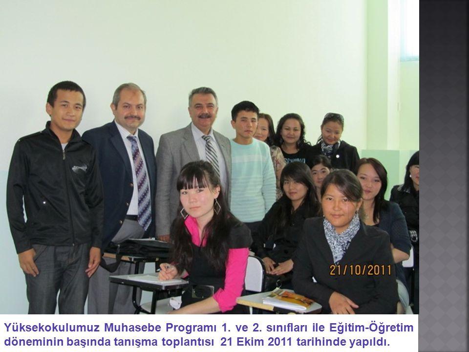 Yüksekokulumuz Muhasebe Programı 1. ve 2