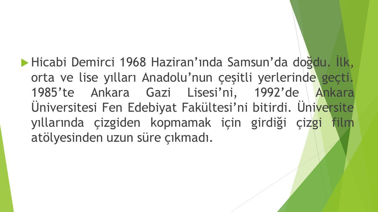 Hicabi Demirci 1968 Haziran'ında Samsun'da doğdu