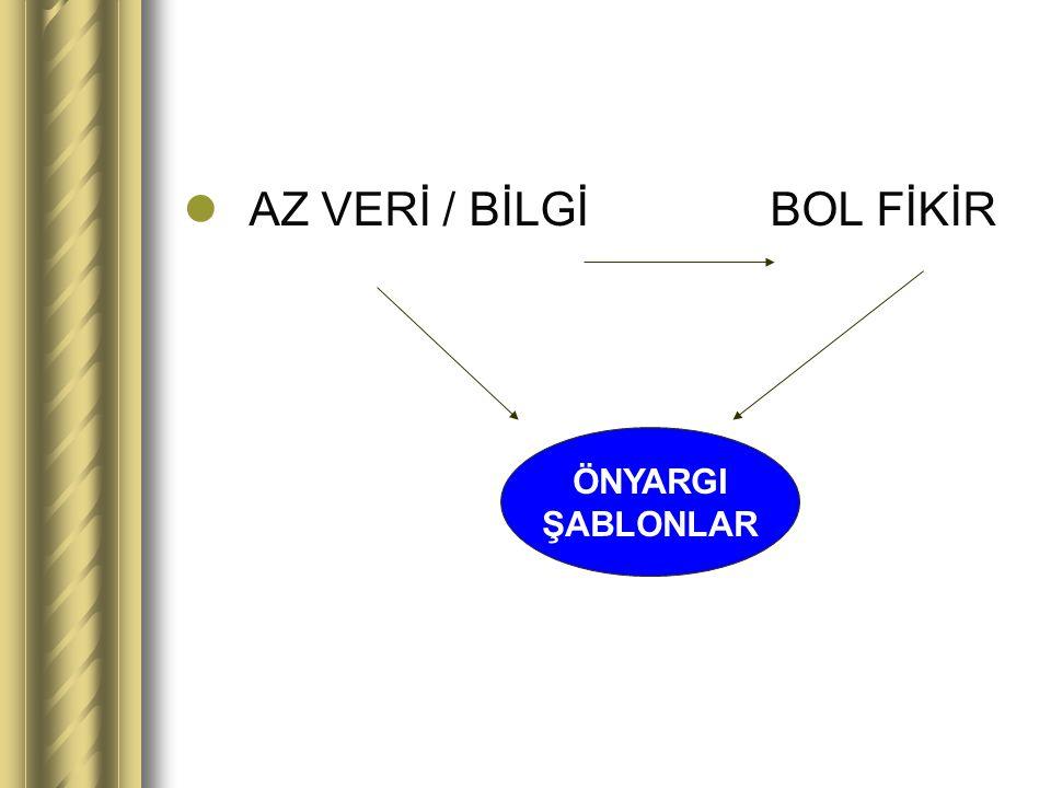 AZ VERİ / BİLGİ BOL FİKİR